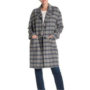 Avec Les Filles Plaid Duster Long Trench Coat- XL